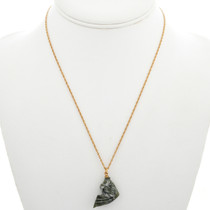 Jade Fish Gold Pendant