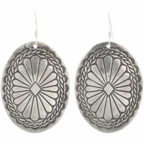 Navajo Silver Concho Dangle Earrings