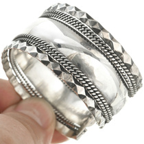 Twist Wire Flattened Diamond Bracelet