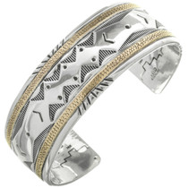 Vintage Overlaid Silver 14K Gold Bracelet 31301