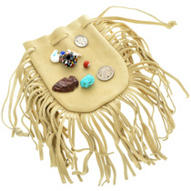 Fringed Leather Indian Medicine Bag 31304