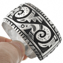 Navajo Silver Overlay Bracelet 31312