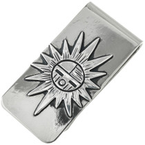 Sunface Kachina Silver Money Clip 31314
