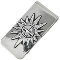 Sunface Kachina Silver Money Clip 31314