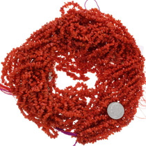 Red Coral Beads 6mm Freeform Nuggets 31321