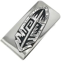 Southwest Silver Feather Money Clip 31322
