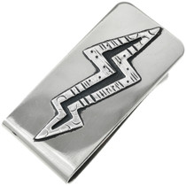Silver Lighting Bolt Money Clip 31323
