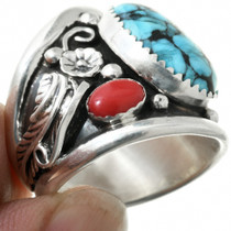 Spiderweb Turquoise Coral Big Boy Jewelry 31325