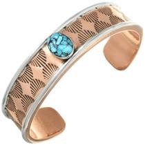Navajo Turquoise Copper Bracelet 31326