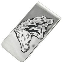 Navajo Silver Horse Money Clip 31334
