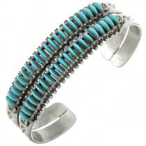 Old Pawn Zuni Needlepoint Turquoise Bracelet 31338