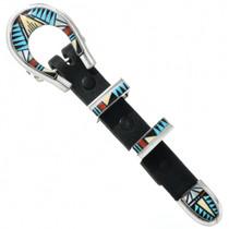 Vintage Zuni Inlay Sterling Silver Ranger Belt Buckle 31340