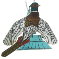 Zuni Pendant Inlay Pheasant Design 31341