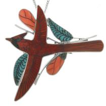 Zuni Cardinal Pendant Brooch 31342