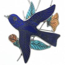 Zuni Bluebird Pendant Brooch 31344