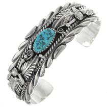 Navajo Turquoise Sterling Silver Bracelet 31355