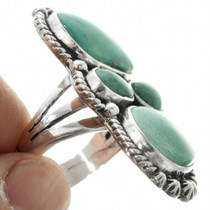 Turquoise Sterling Silver Ladies Ring 31363