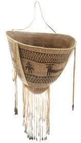 Vintage Authentic Apache Burden Basket 30569