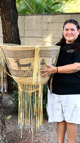 Large Native American Hand Woven Burden Basket 30569