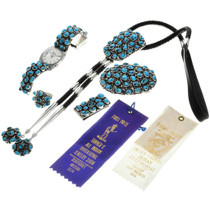 Award Winning Native American Turquoise Jewelry Set 31366
