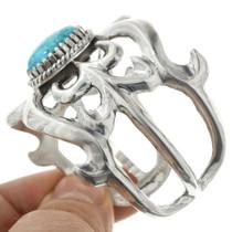 Navajo Sterling Silver Turquoise Bracelet 31368