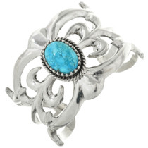 Spiderweb Turquoise Old Pawn Style Cuff Bracelet 31368