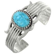 Navajo Blue Turquoise Silver Bracelet 31369