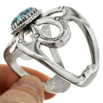 Navajo Sterling Silver Turquoise Bracelet 31373