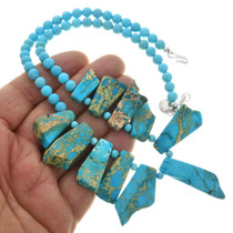 Chunky Jasper Turquoise Necklace 31380