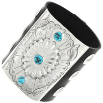 Navajo Turquoise Leather Bow Guard 31381