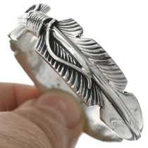 Navajo Sterling Silver Feather Bracelet 31389