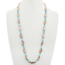 Navajo Turquoise Pearl Necklace 31394