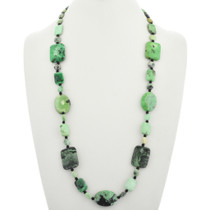 Green Chrysotine Onyx Navajo Necklace 31395