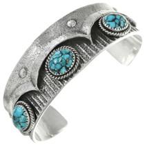 Spiderweb Turquoise Silver Navajo Bracelet 31408