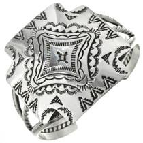 Navajo Sterling Silver Cross Bracelet 31409
