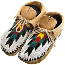 Vintage Navajo Beaded Moccasins 31504