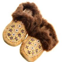 Vintage Native American Fur Moccasins 31507