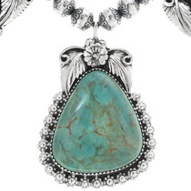 Navajo Battle Mountain Turquoise Necklace 31423