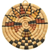 Vintage Hopi Kachina Polychrome Basket 31434