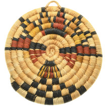Hopi Indian Hand Woven Basket Kachina Design 31434