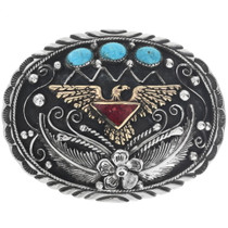 Native American Turquoise Eagle Belt Buckle 31437