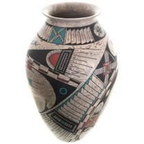 Mata Ortiz Marbled Clay Olla Pottery Vase 31512