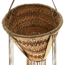 Natural Willow Yucca Leather Apache Basket 31445