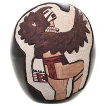 Vintage Etched Pueblo Hopi Pottery Egg 31464