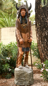 Vintage Cigar Store Wooden Indian Chief 31465