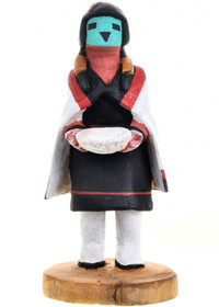 Vintage Blue Corn Maiden Kachina Doll 31472