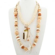 Navajo Chunky Two Strand Bone Bead Necklace 31479