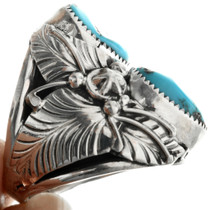 Southwest Sterling Silver Turquoise Ring 31492