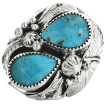 Teardrop Turquoise Sterling Silver Ring 31493