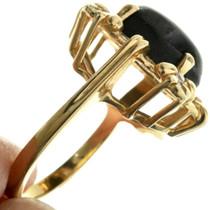 Vintage Black Sapphire 14K Gold Ring 31494